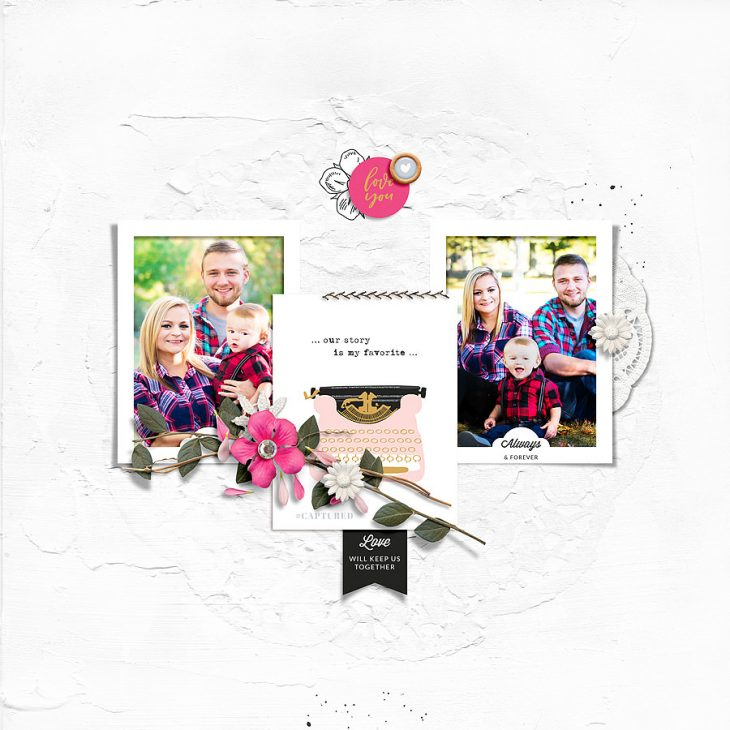 Family digital scrapbook layout - Sahin Designs