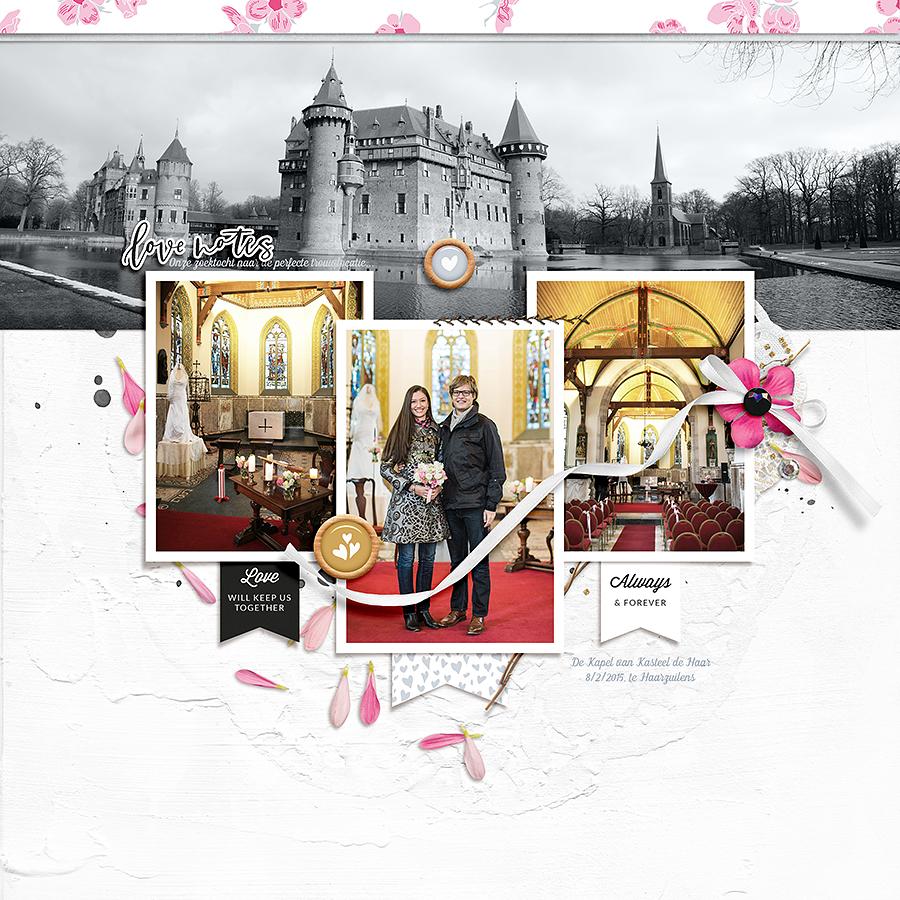 Love digital scrapbook layout - Sahin Designs