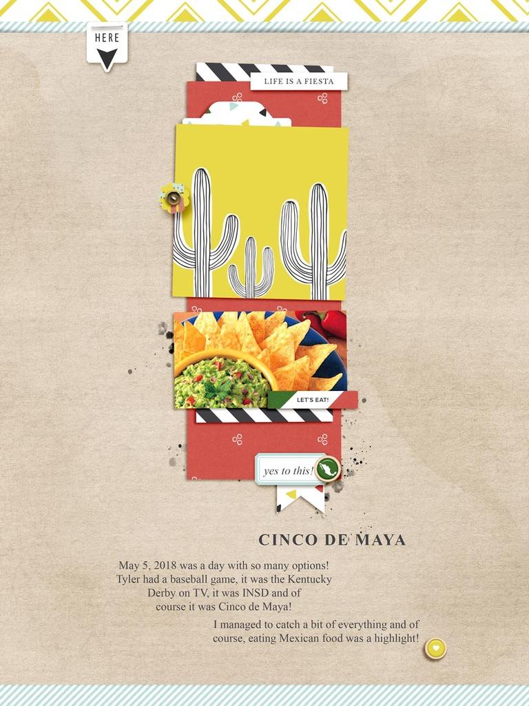 Food digital scrapbook layout - Sahin Designs
