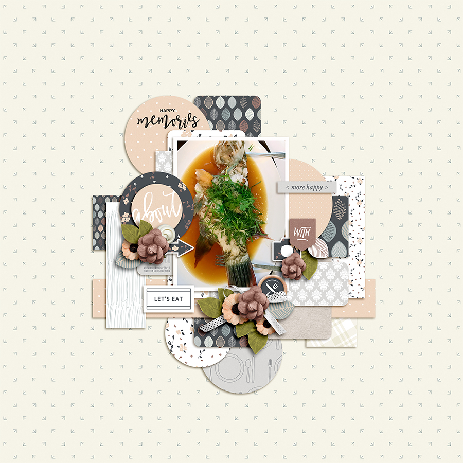 Food digital scrapbook layout - Sahin Designs