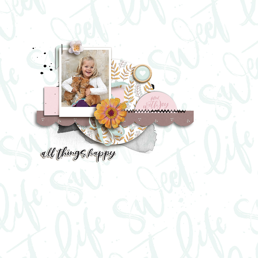 Kid digital scrapbook layout - Sahin Designs