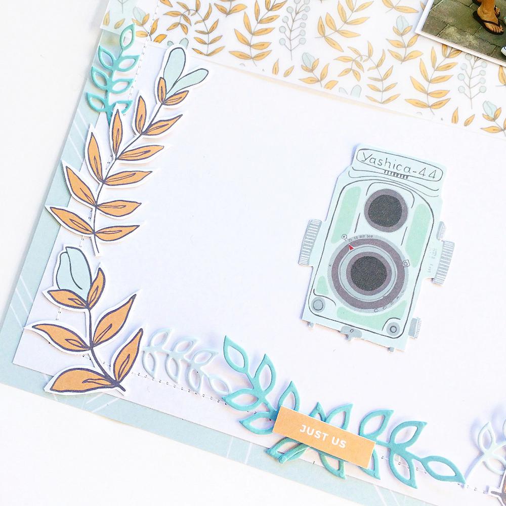 Everyday hybrid pocket scrapbook layout - Sahin Designs