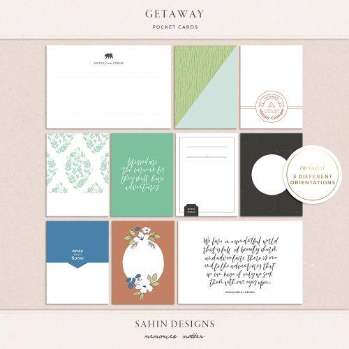 Getaway Printable Pocket Cards - Sahin Designs