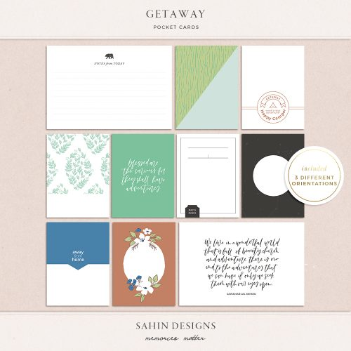 Getaway Printable Pocket Cards - Sahin Designs