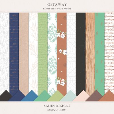 Getaway Digital Scrapbook Papers - Sahin Designs