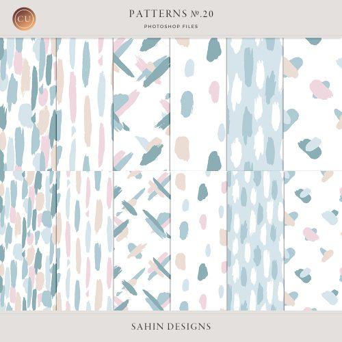 Painted Pattern Templates - Sahin Designs - CU Digital Scrapbook
