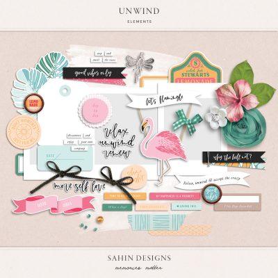 Unwind digital scrapbook elements - Sahin Designs