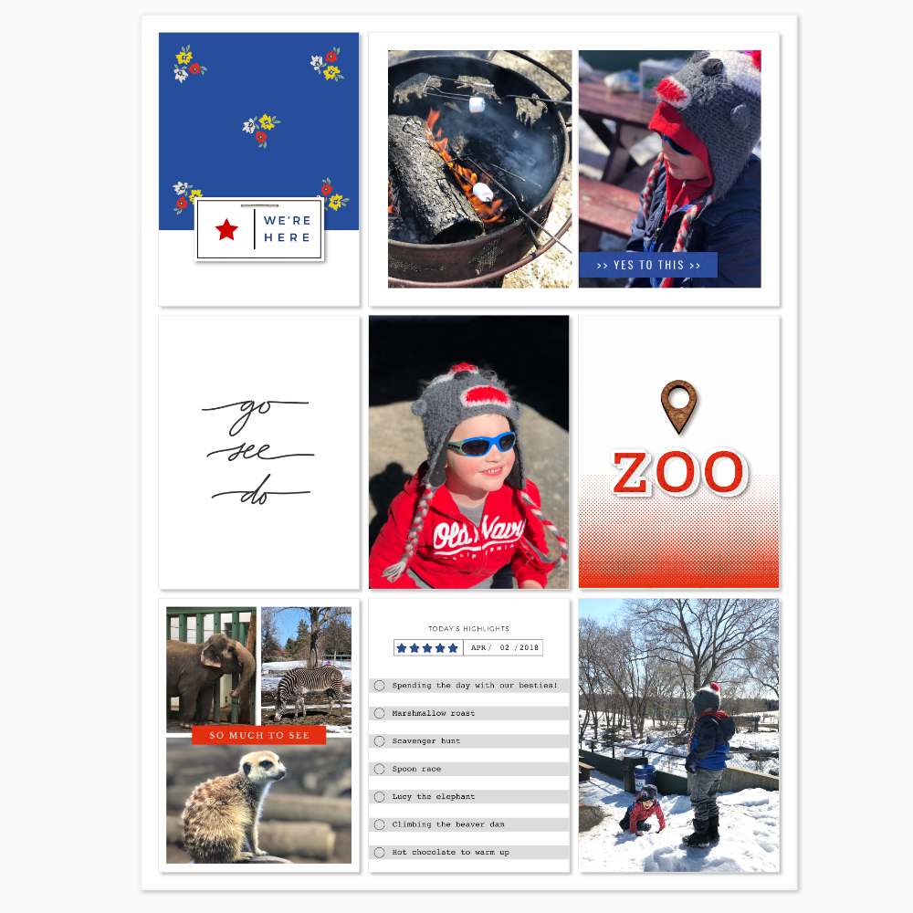 Zoo digital scrapbook layout - Sahin Designs