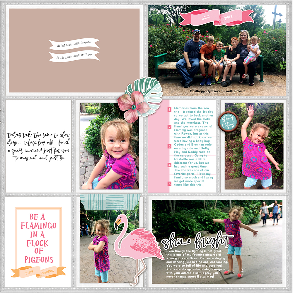 Zoo pocket scrapbook layout - Sahin Designs