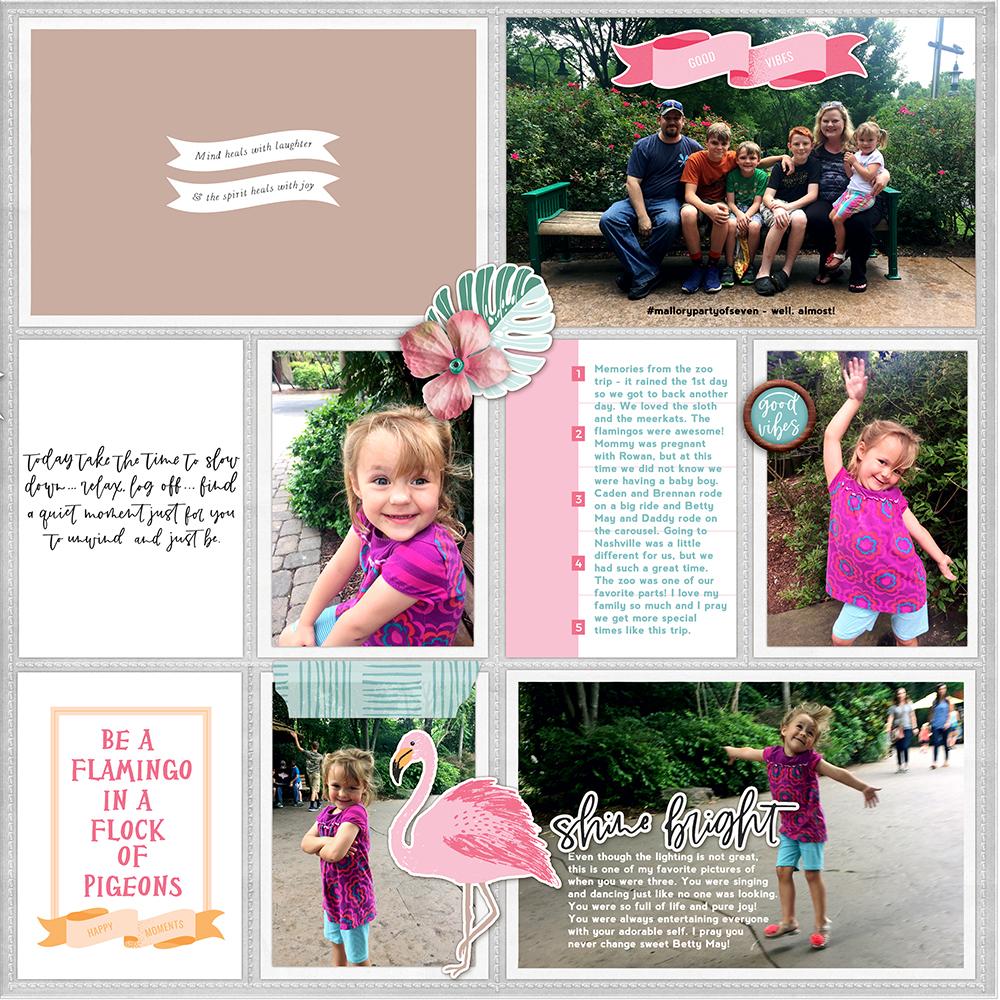 Zoo pocket scrapbook layout - Sahin Designs