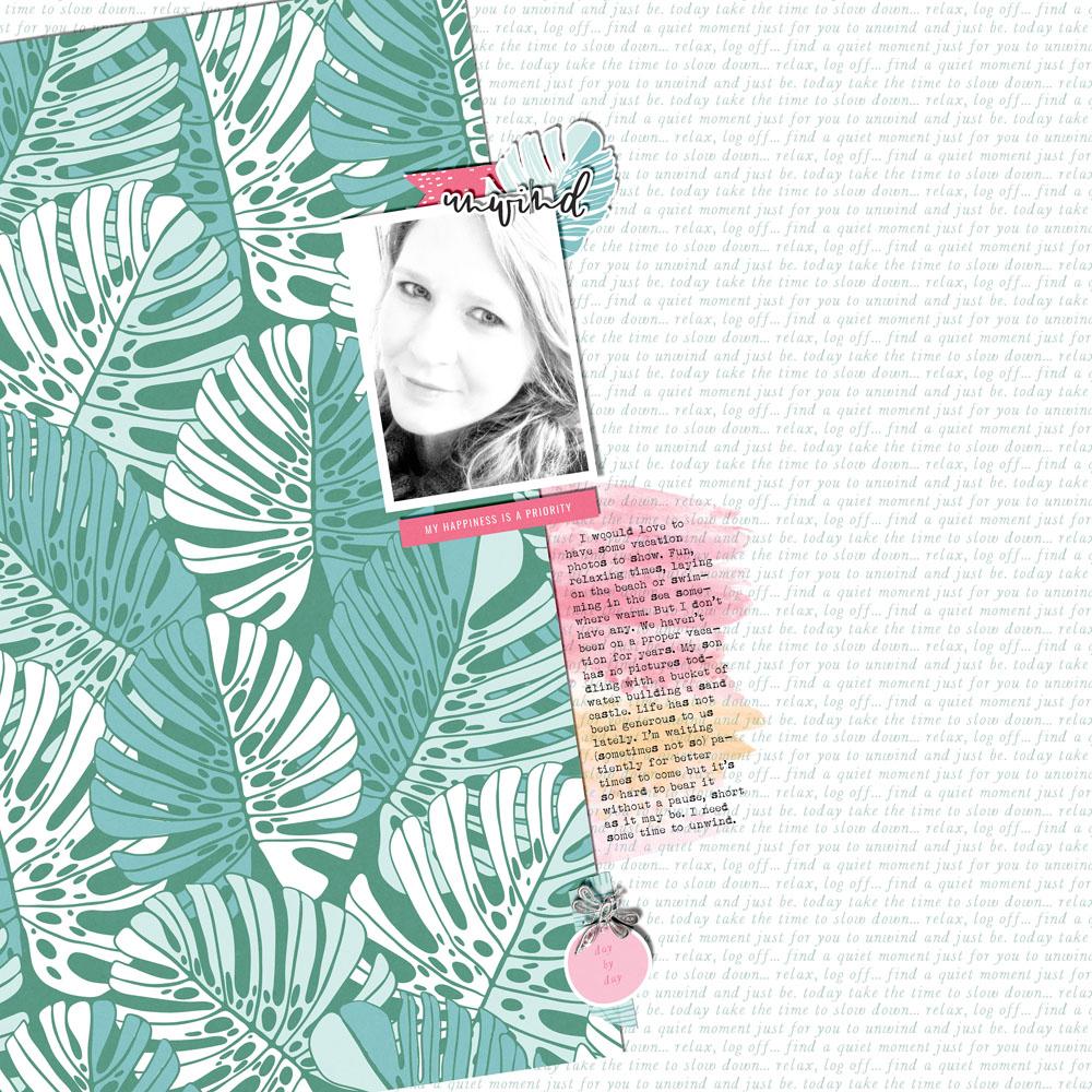 Everyday life digital scrapbook layout - Sahin Designs