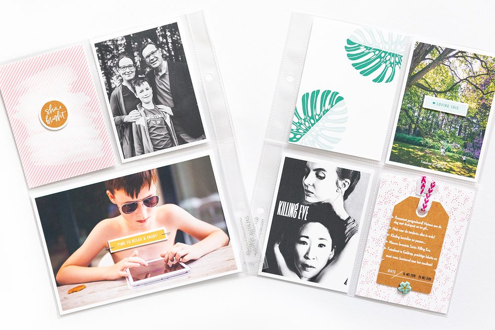 Everyday life pocket scrapbook layout - Sahin Designs