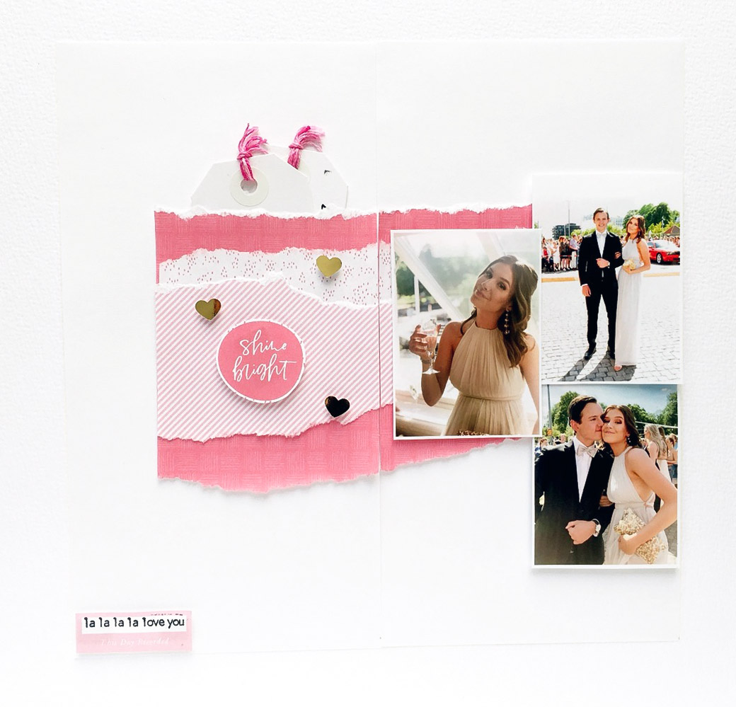 Wedding hybrid scrapbook layout - Sahin Designs