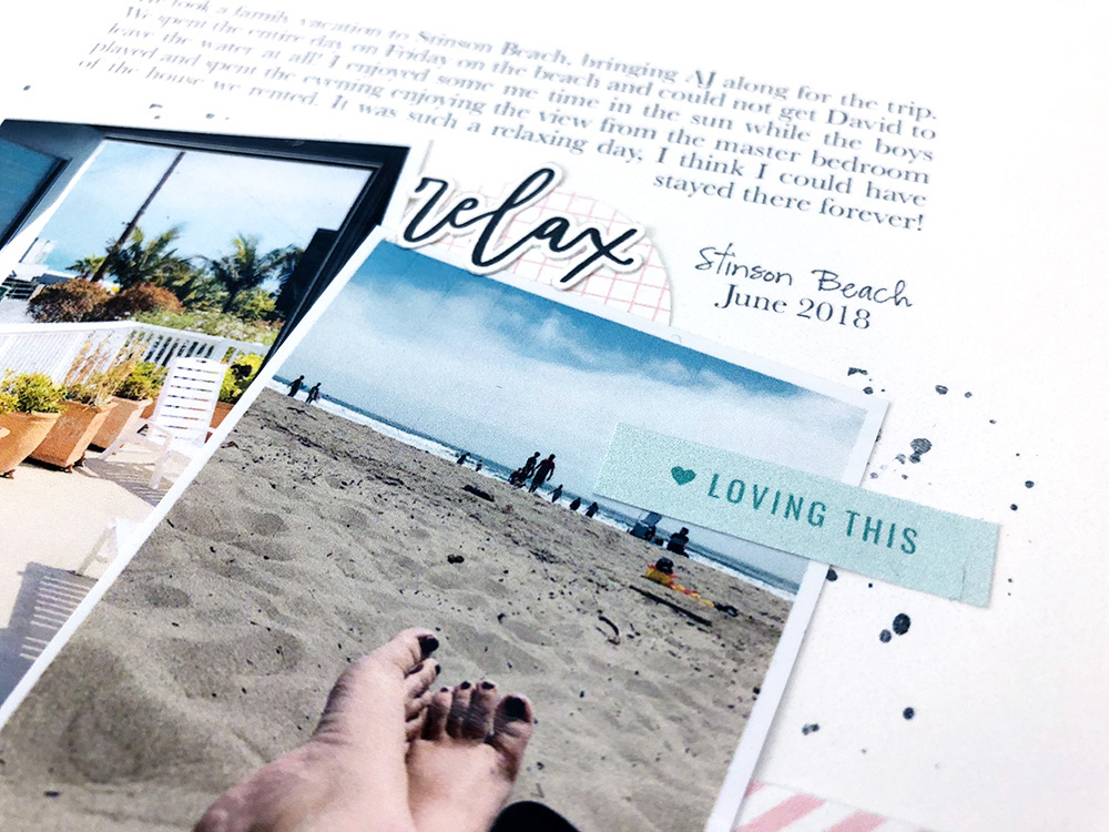 Summer hybrid scrapbook layout - Sahin Designs