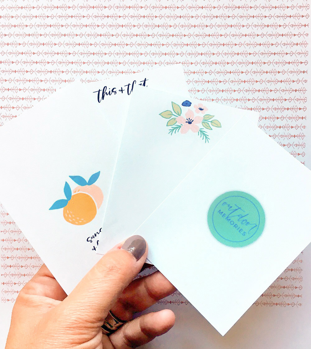 How I use the Letterglow app to make pocket scrapbook cards - Sahin Designs