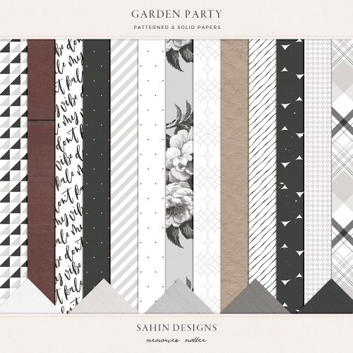 Garden Party Digital Scrapbook Papers - Sahin Designs