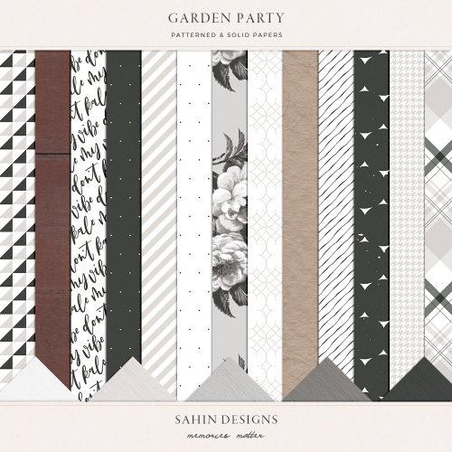 Garden Party Digital Scrapbook Papers - Sahin Designs