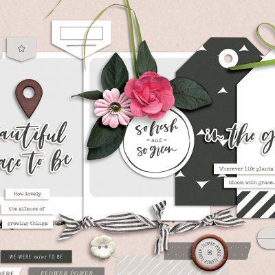 Garden Party Digital Scrapbook Collection - Sahin Designs