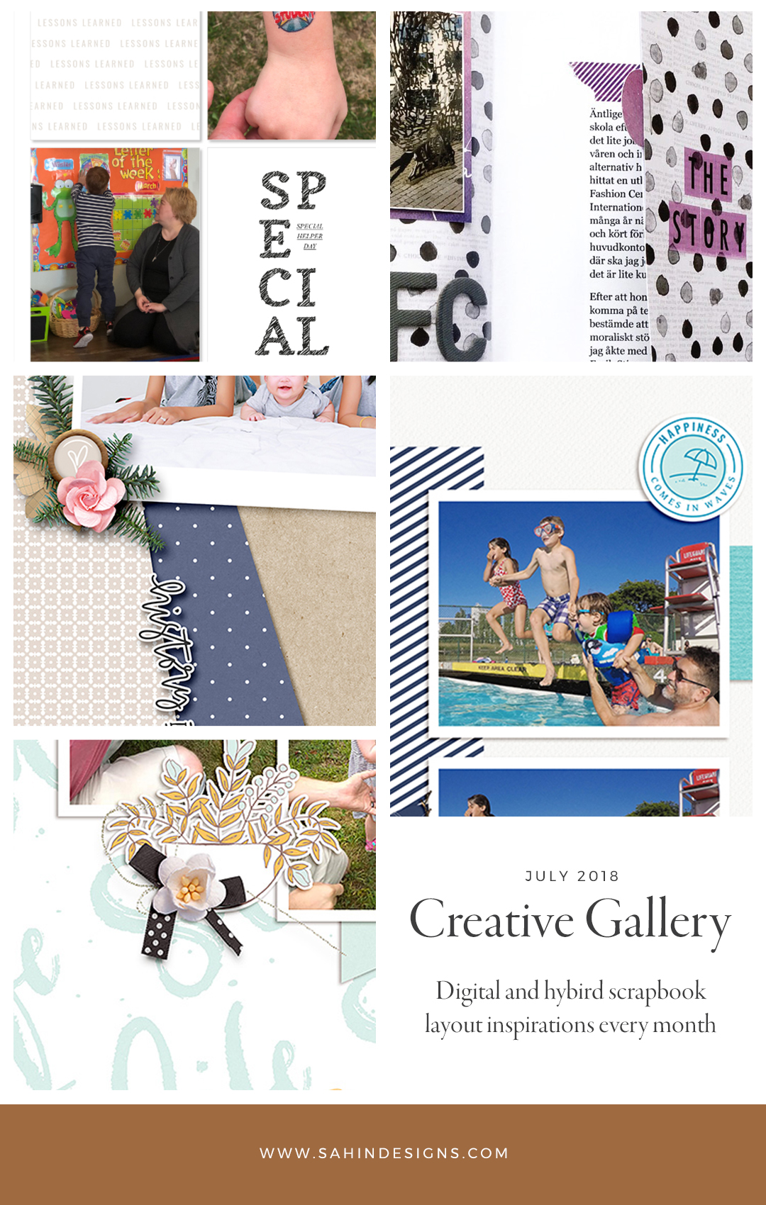 July Creative Scrapbook Gallery 2018 - Sahin Designs
