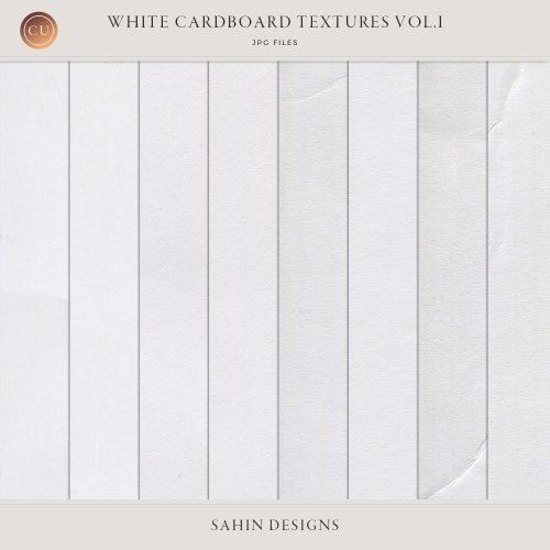 White cardboard textures Vol.I - Sahin Designs - CU Digital Scrapbook