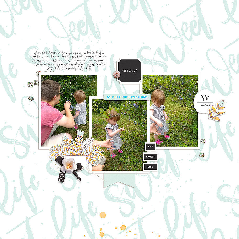 Orchard digital scrapbook layout - Sahin Designs
