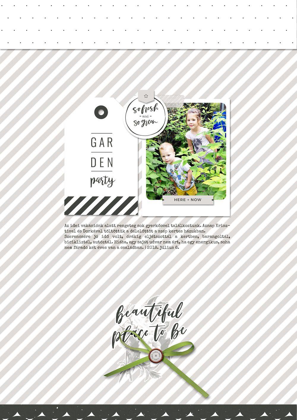 Garden digital scrapbook layout - Sahin Designs