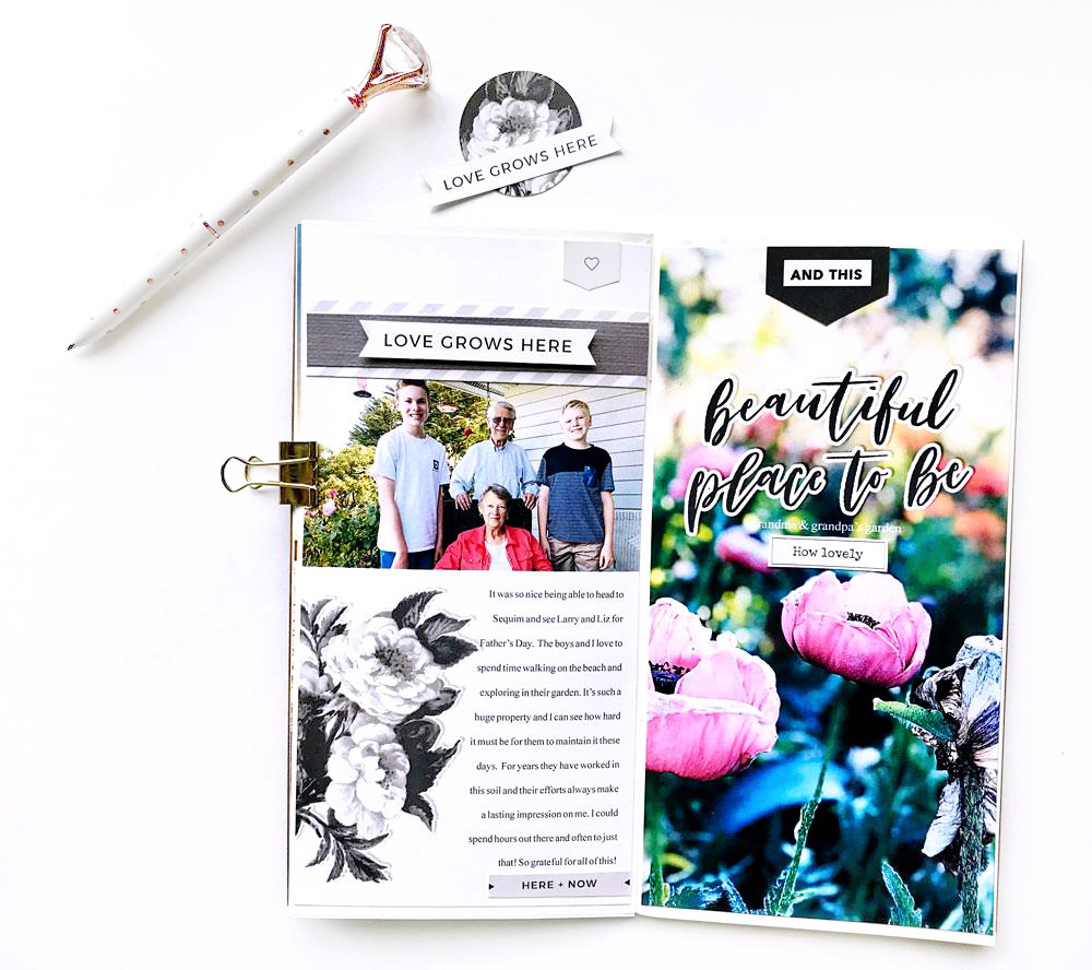 Everyday life travelers notebook layout - Sahin Designs