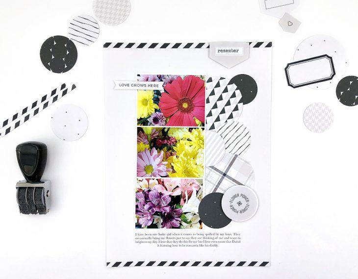 Garden hybrid scrapbook layout - Sahin Designs