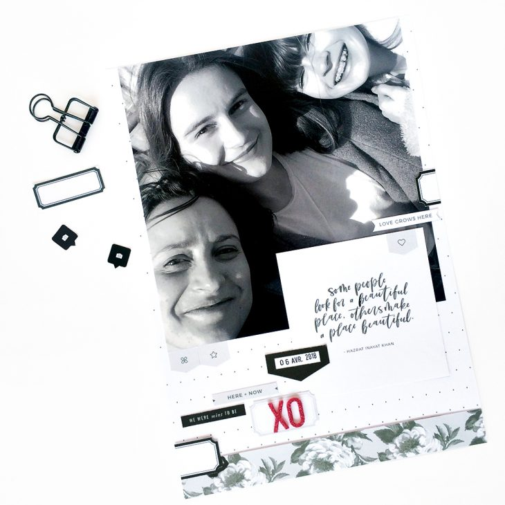 Everyday life hybrid scrapbook layout - Sahin Designs