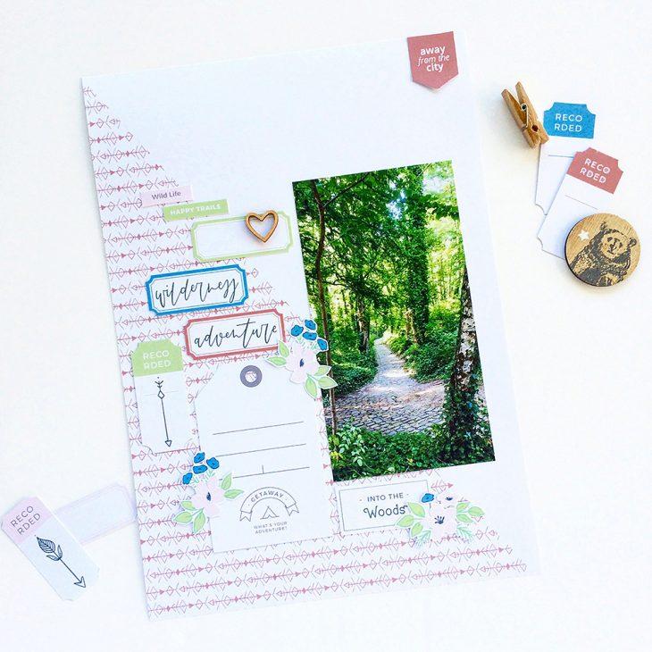 Nature hybrid scrapbook layout - Sahin Designs