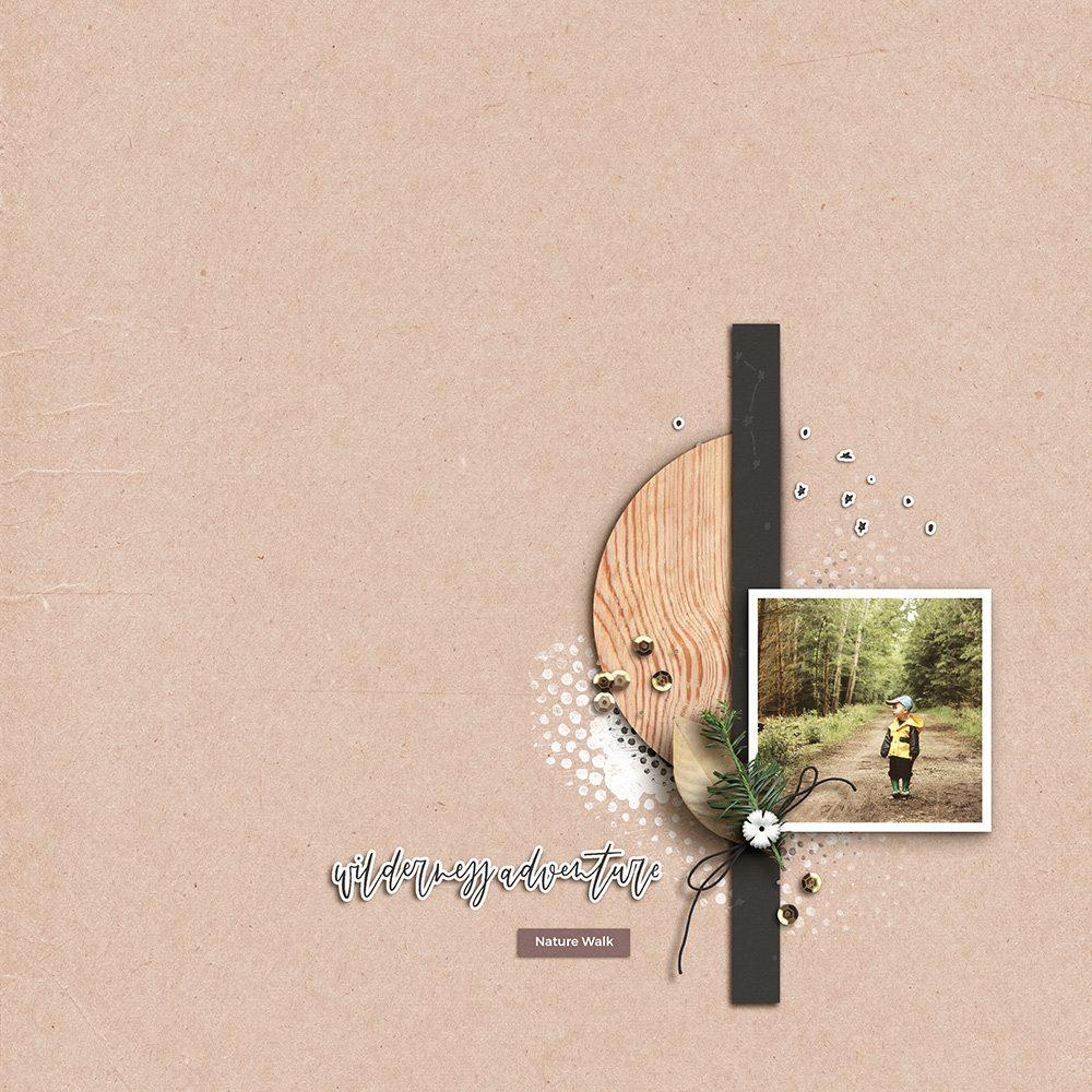 Outdoors digital scrapbook layout - Sahin Designs