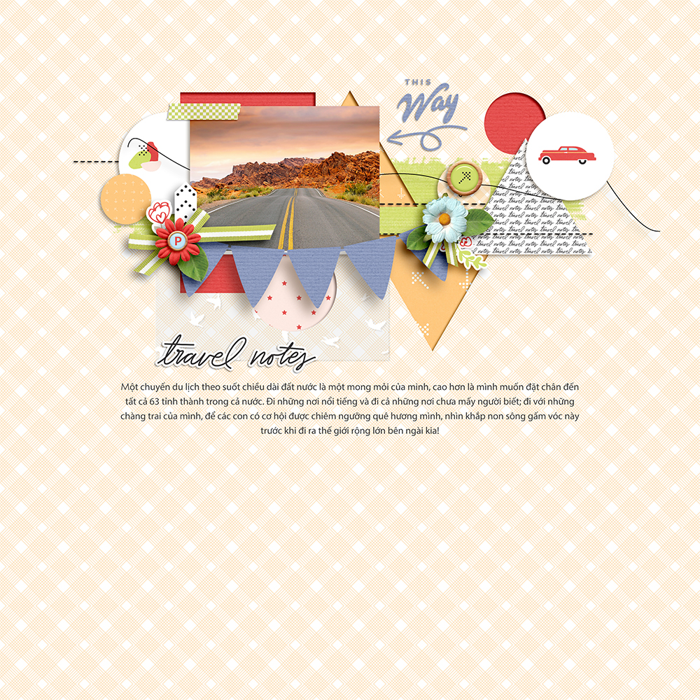 Vacation digital scrapbook layout - Sahin Designs