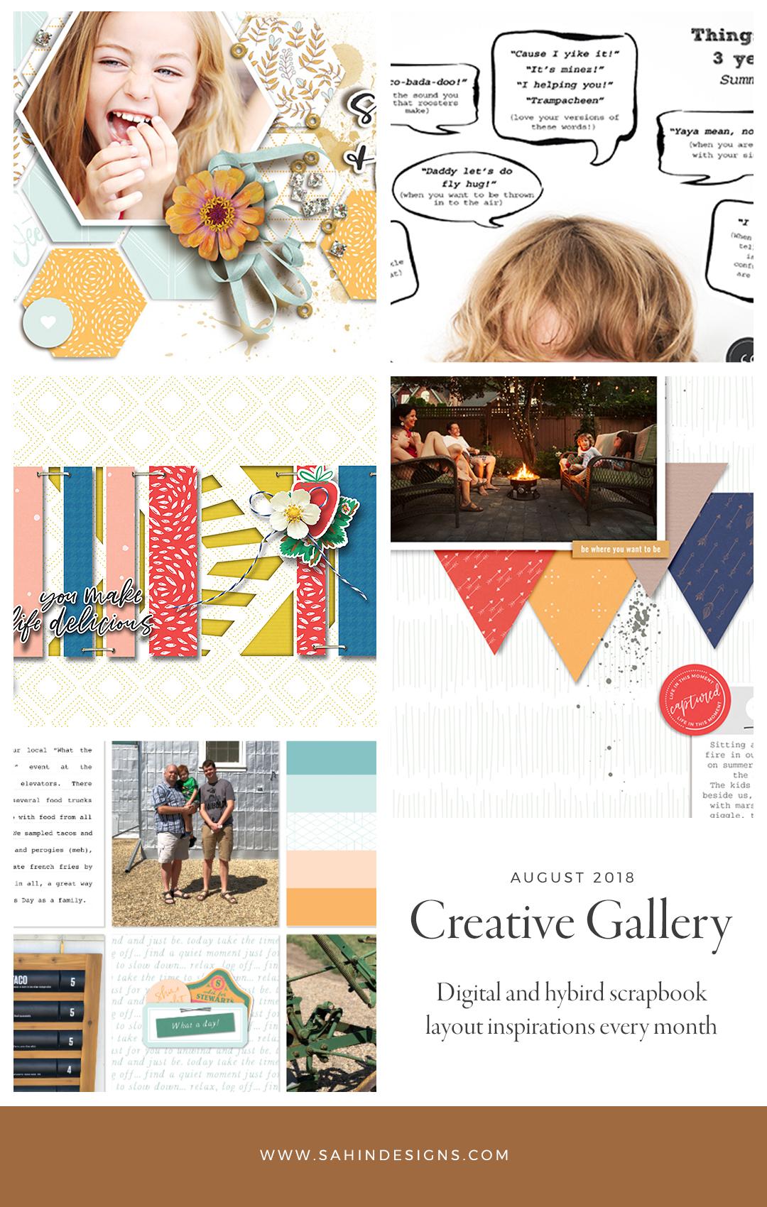 August Creative Scrapbook Gallery 2018 - Sahin Designs