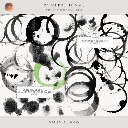 Extracted paint brushes no.3 - Sahin Designs - CU Digital Scrapbook