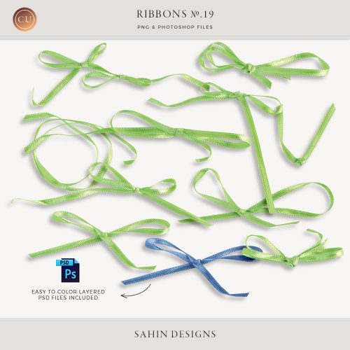 Extracted thin ribbons no.19 - Sahin Designs - CU Digital Scrapbook