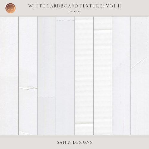 White cardboard textures Vol.II - Sahin Designs - CU Digital Scrapbook