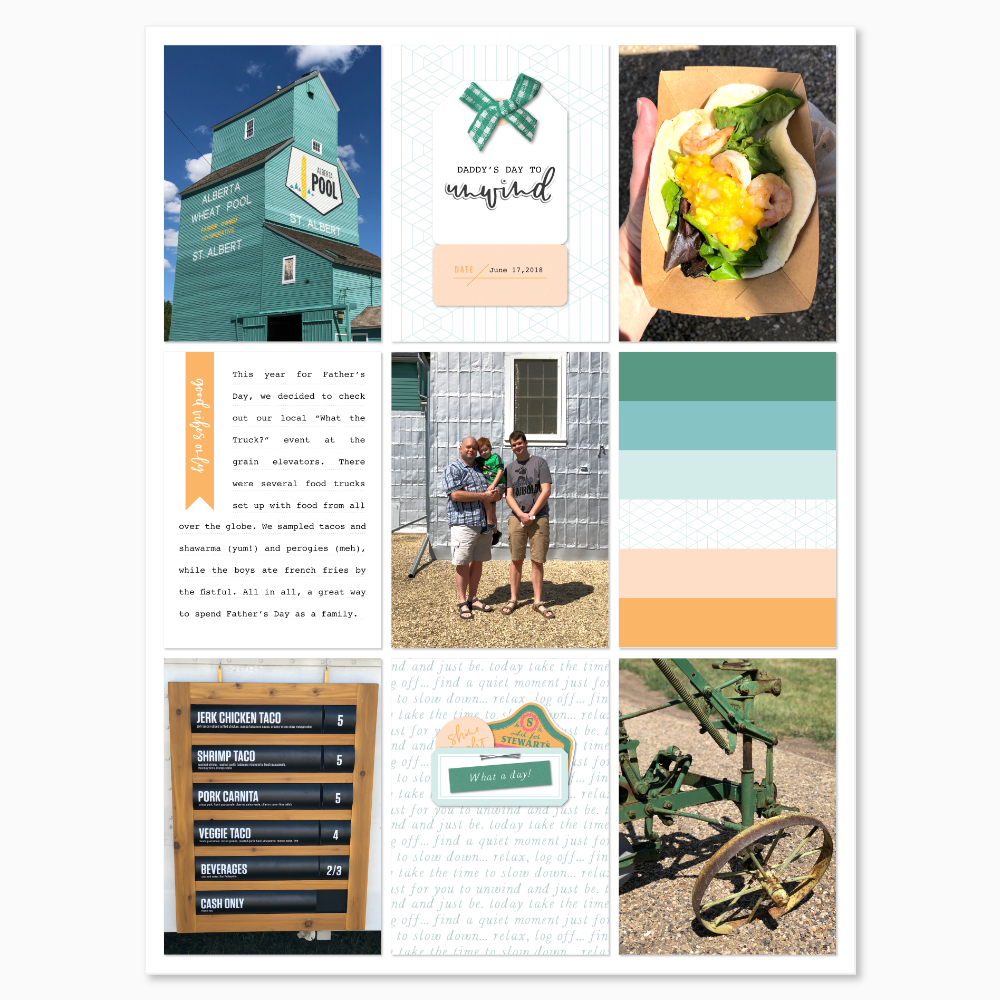 Everyday life digital pocket scrapbook layout - Sahin Designs