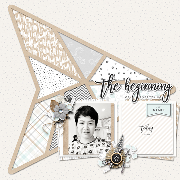 New year digital scrapbook layout - Sahin Designs