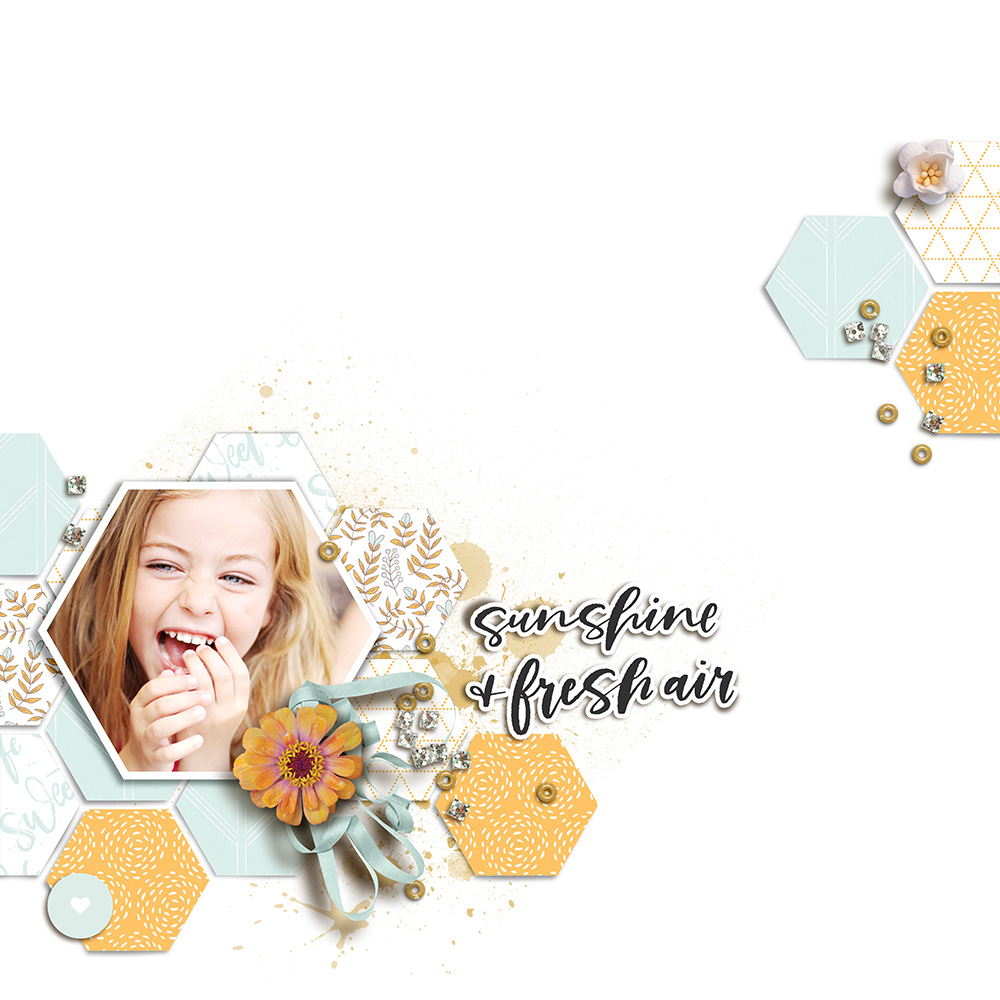 Girl digital scrapbook layout - Sahin Designs