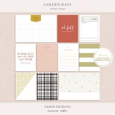 Golden Days Printable Pocket Cards- Sahin Designs