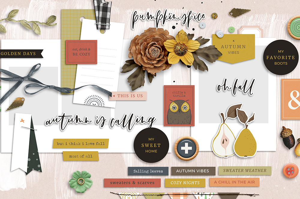 Shop update | Golden Days collection + September layout templates