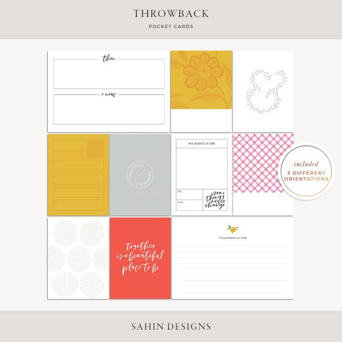 Throwback Printable Pocket Cards - Sahin Designs