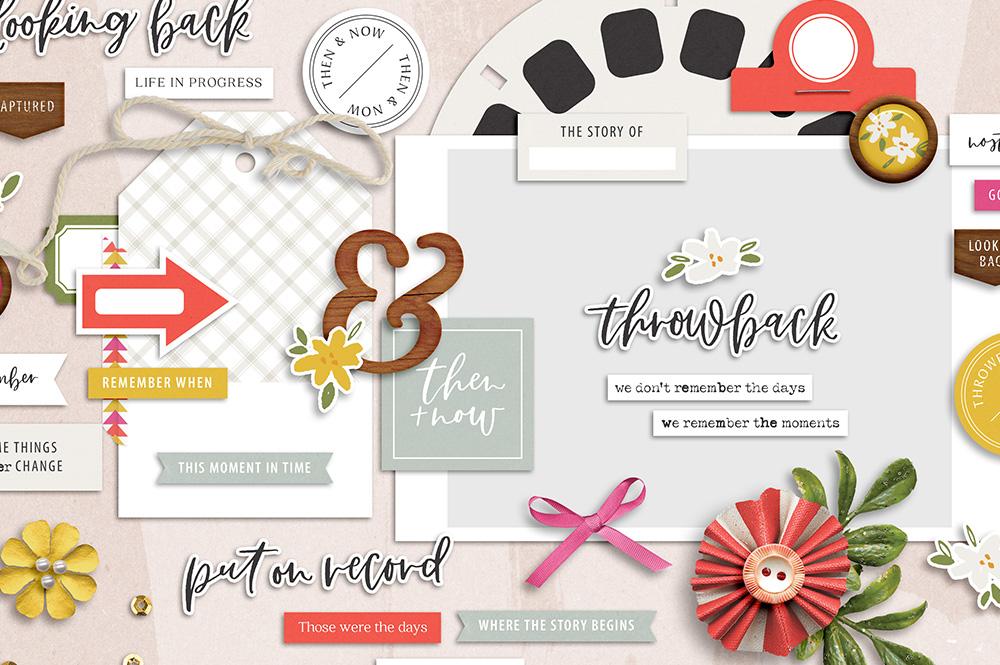 Throwback Digital Scrapbook Collection - Sahin Designs