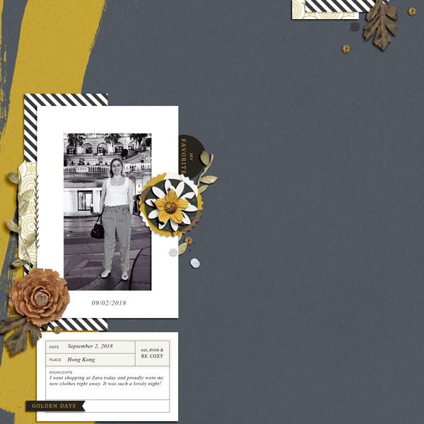 Autumn digital scrapbook layout - Sahin Designs