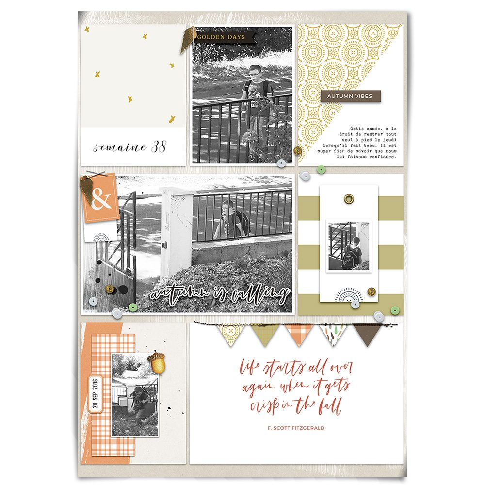 Everyday life digital scrapbook layout - Sahin Designs