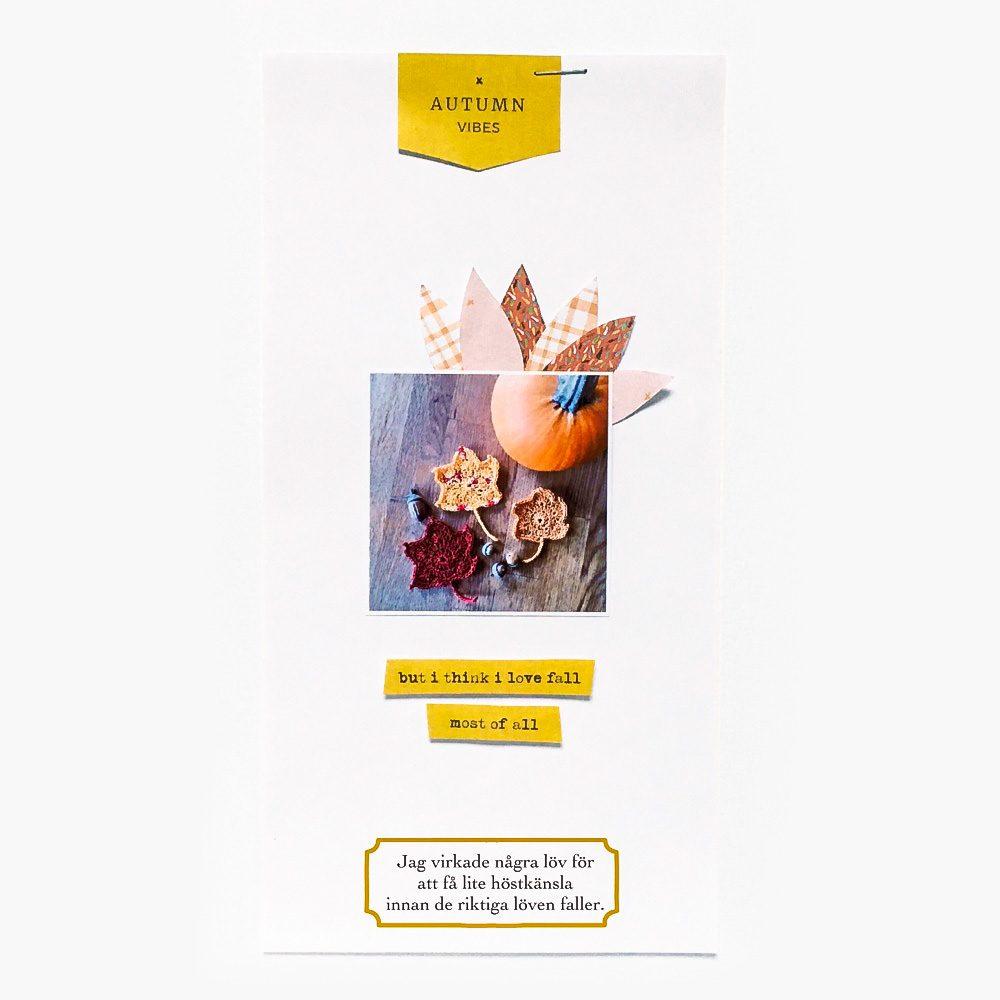 Autumn hybrid scrapbook layout - Sahin Designs