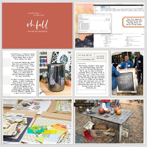 Autumn pocket scrapbook layout - Sahin Designs
