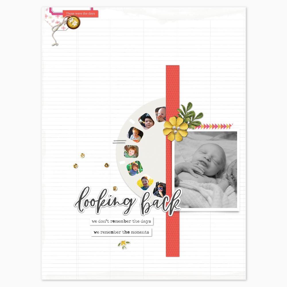 Baby digital scrapbook layout - Sahin Designs