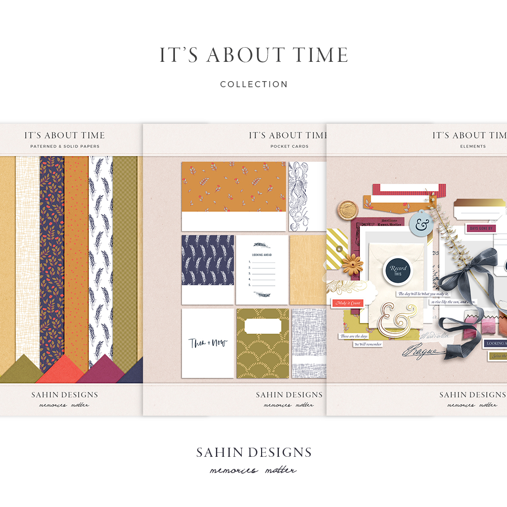 It's About Time Digital Scrapbook Collection - Sahin Designs