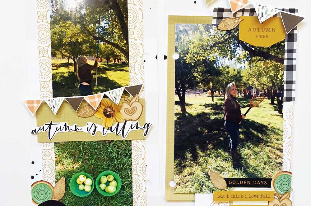 Document yourself in fall + 6 scrapbook layout prompts for fall - Sahin Designs